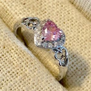 Jewelry - NEW Pink Heart Ring - Sizes 6-10